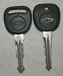 GM Slotted Ignition Key